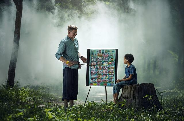 教える、教わる